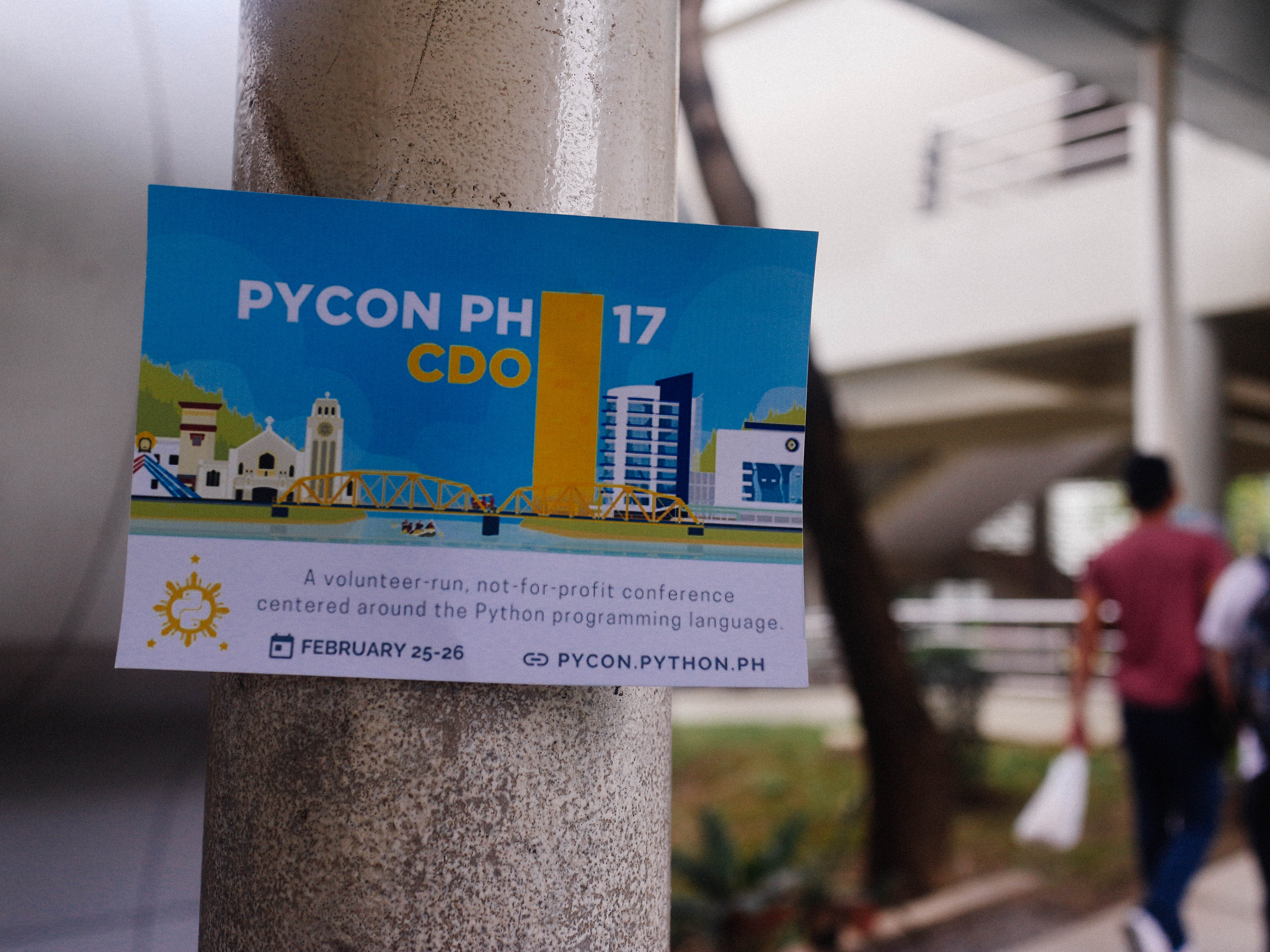 PyCon Philippines, the organizers of the event, calls their group as a volunteer-run, not-for-profit conference centered around the Python Programming language.